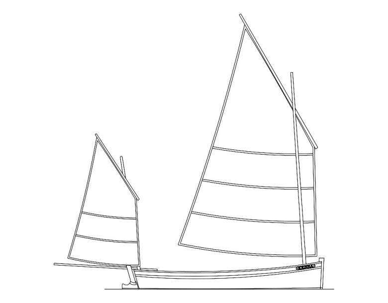 Kensa, 18'6'' fishing lugger